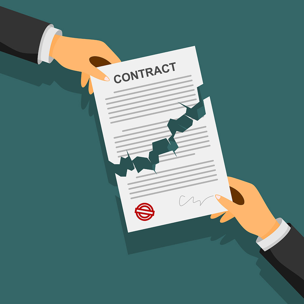 Contract - Breach of contract solicitors offering advice when it counts